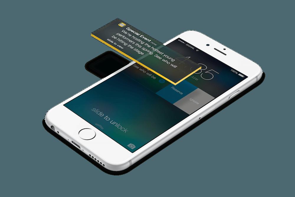 Push notifications mobile app